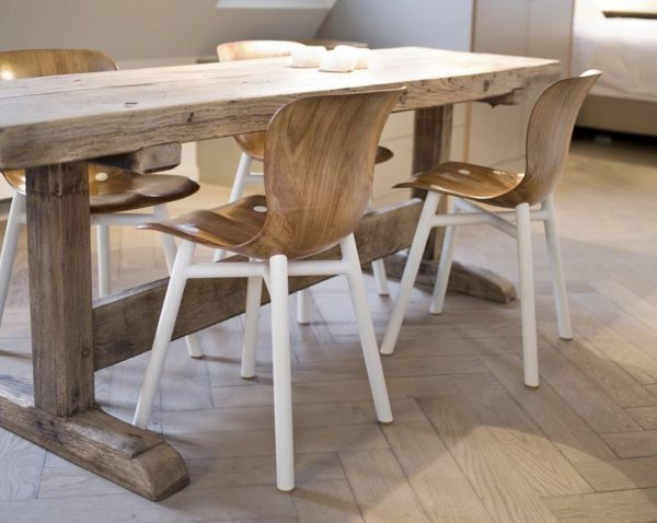 Wendela stoel functionals naturel wit eetkamer