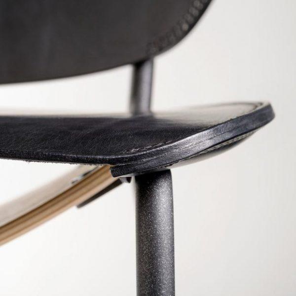 functionals miller lounge chair leren stoel detail