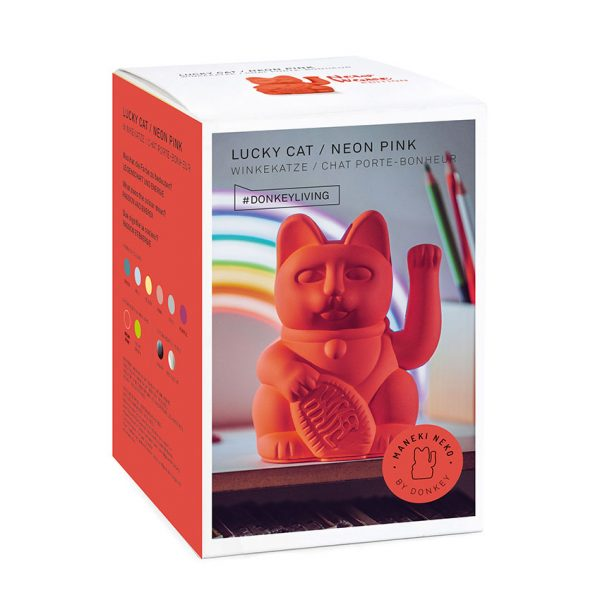 Lucky Cat Neon Roze Donkey
