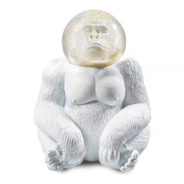 Glitter gorilla sneeuwbol Donkey wit