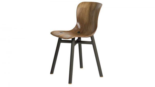 Wendela Functionals stoel naturel zwart