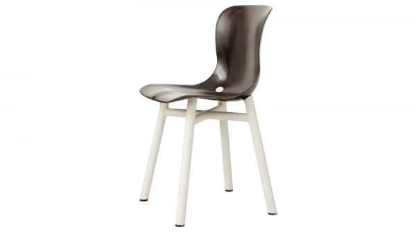 Wendela Functionals stoel donker wit