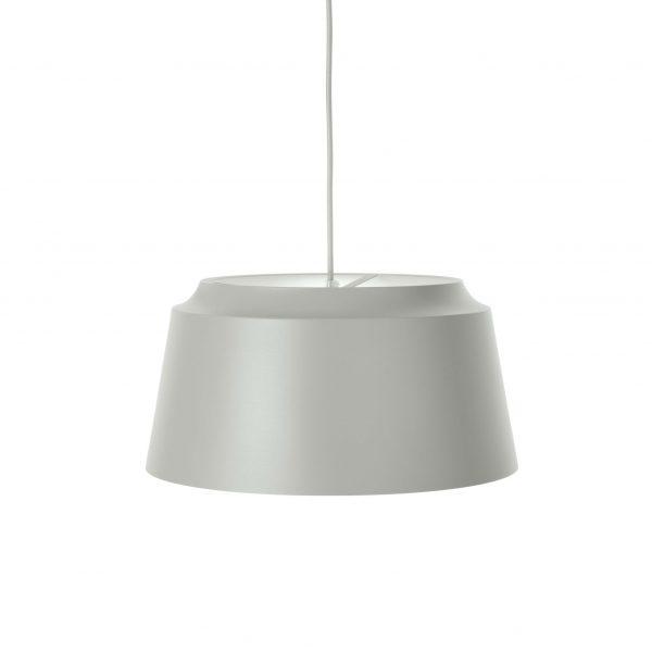 Puik-groove hanglamp licht grijs