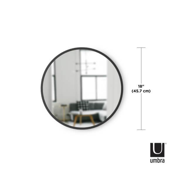 umbra spiegel hub 46 cm zwart
