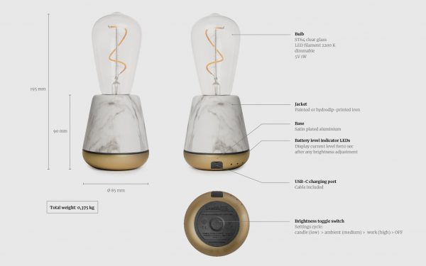 Technische specificatie humble lamp