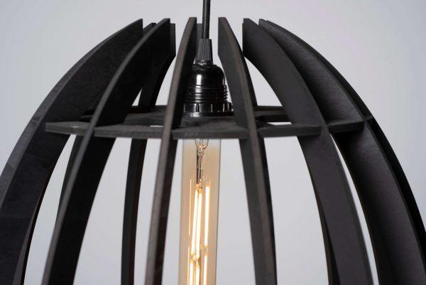Ovo plafondlamp zwart hout innofique by d-sire