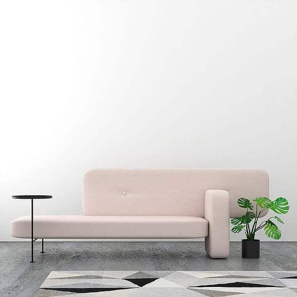 Sfeer Bolia pebble bank roze