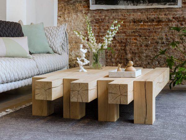 houten salontafel qliv