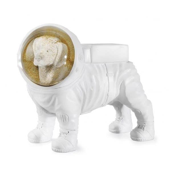 Glitter sneeuwbol hond laika the space dog donkey