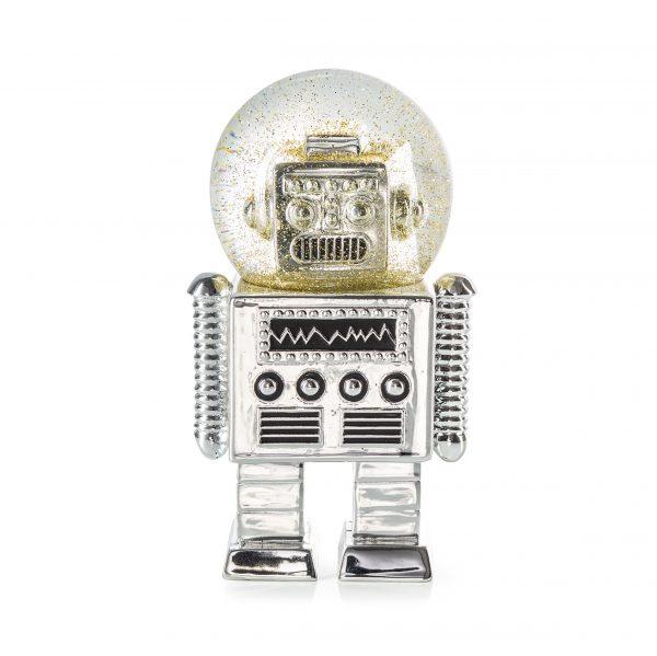 Glitter robot sneeuwbol The Robot S Donkey zilver