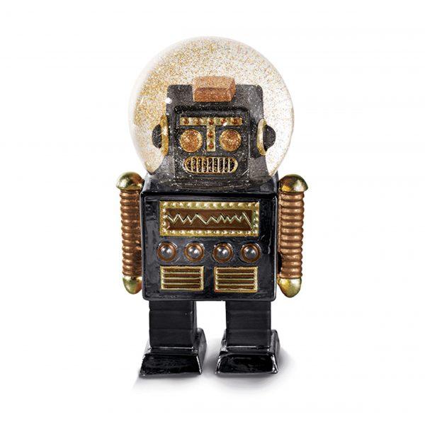 Glitter robot sneeuwbol The Robot S Donkey Zwart