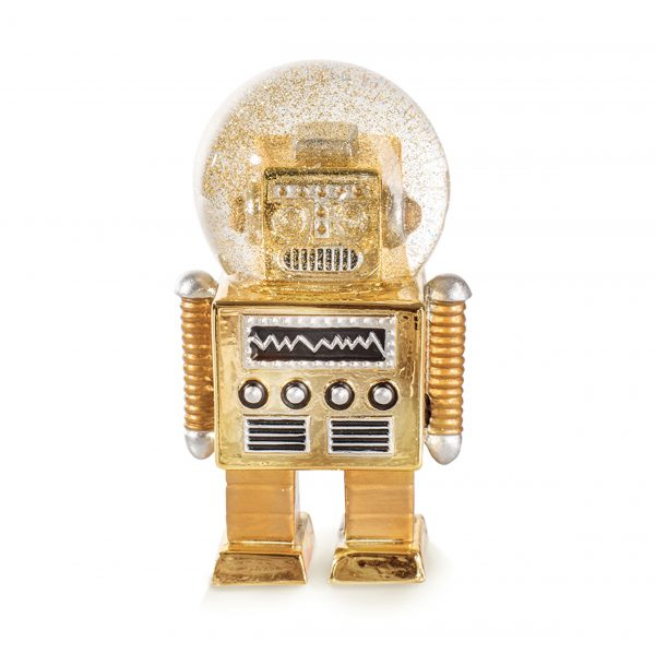 Glitter robot sneeuwbol The Robot S Donkey goud