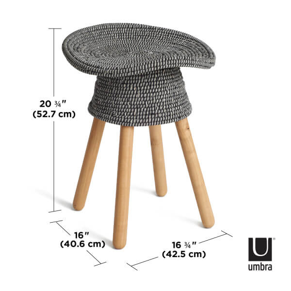 afmeting coiled stool umbra