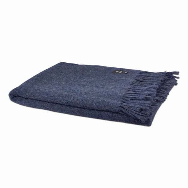 Alpaca plaid donker blauw by d-sire