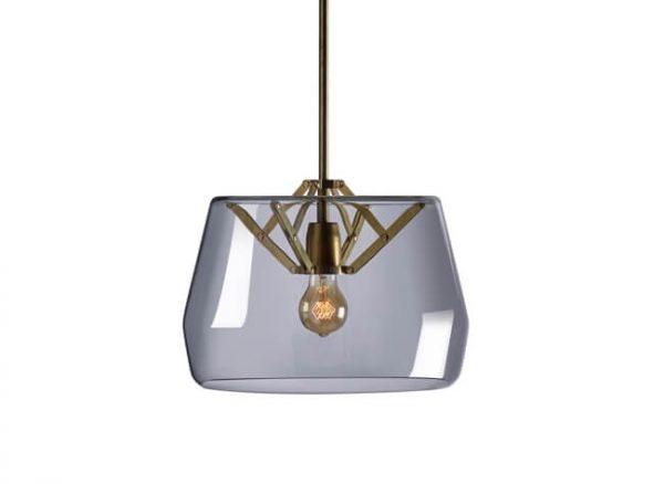 atlas hanglamp met glazen kap van tonone