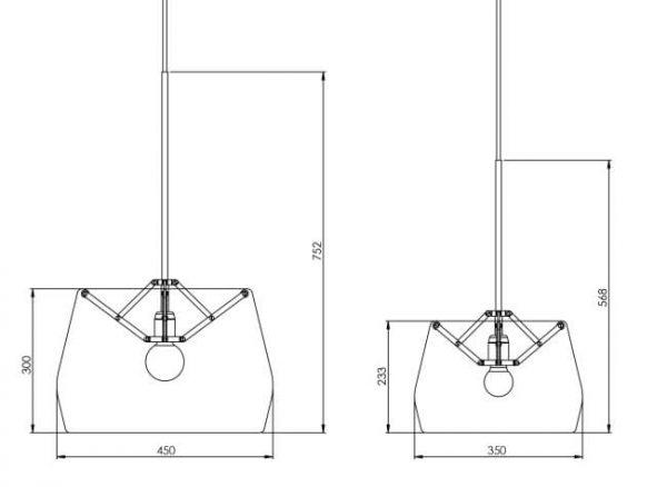 afmetingen hanglamp atlas van tonone