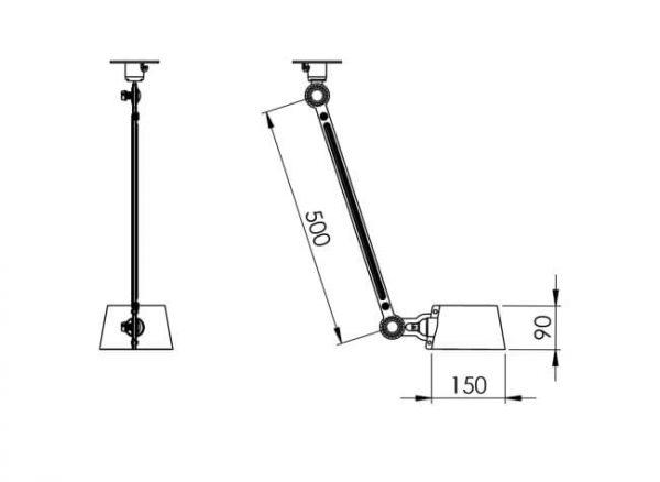afmetingen ceiling lamp tonone