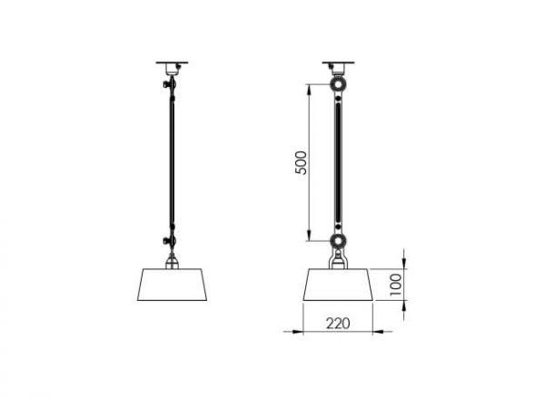 afmeting bolt plafondlamp tonone