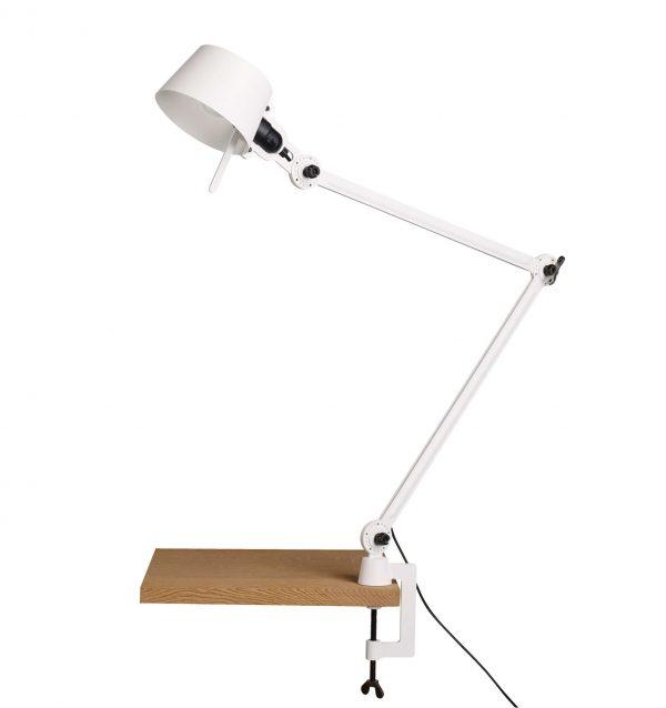 tonone pure white desk lamp met klem