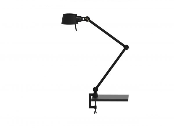 zwarte tonone deks lamp met klem bolt