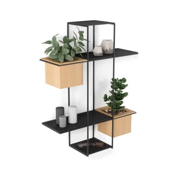 umbra cubist wandrek zwart voor planten