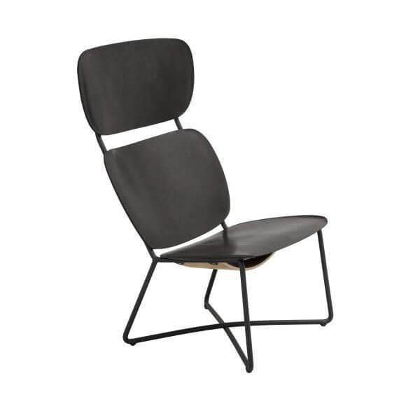 miller lounge chair high zwart functionals