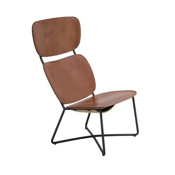 miller high chair lounge chair high donker frame cognac door Serener functionals