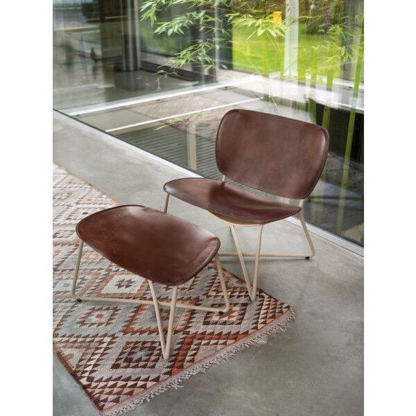 functionals Miller Lounge Chair leren stoel