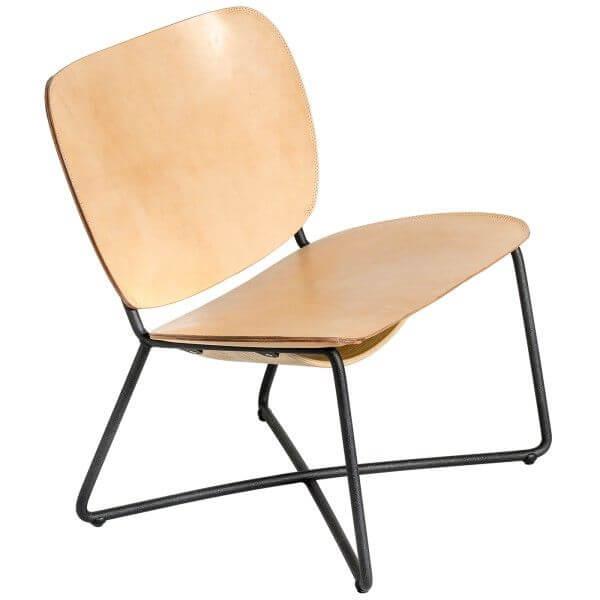 functionals miller lounge chair zwart frame naturel