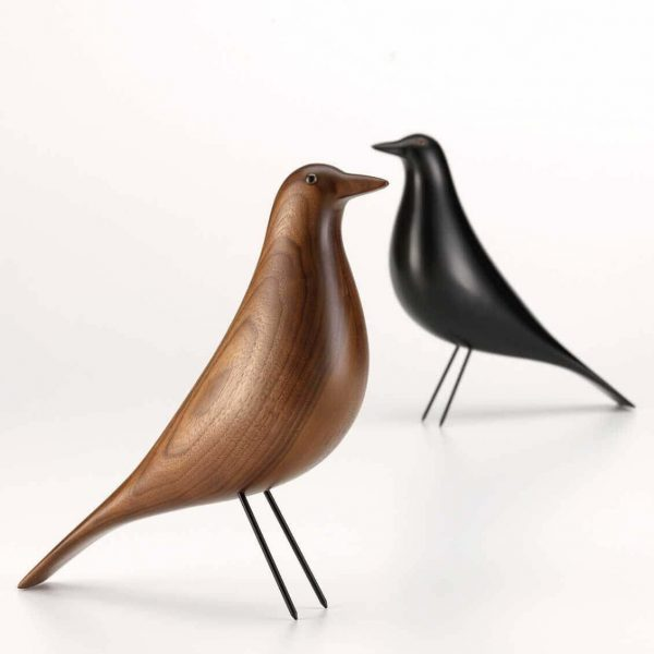 housebird zwart en walnoot van vitra