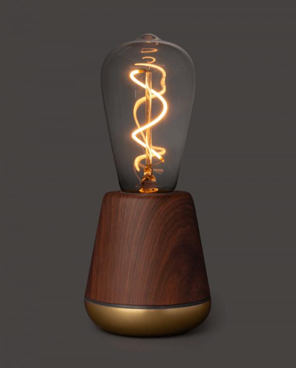 Humble oplaadbare lamp walnoot