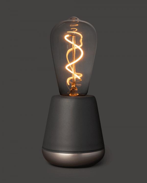 Humble dark grey oplaadbare tafellamp