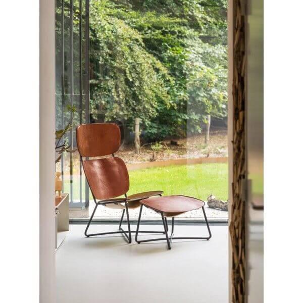 functionals miller lounge chair high leren stoel