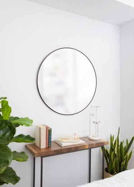 Hubba titanium spiegel rond umbra