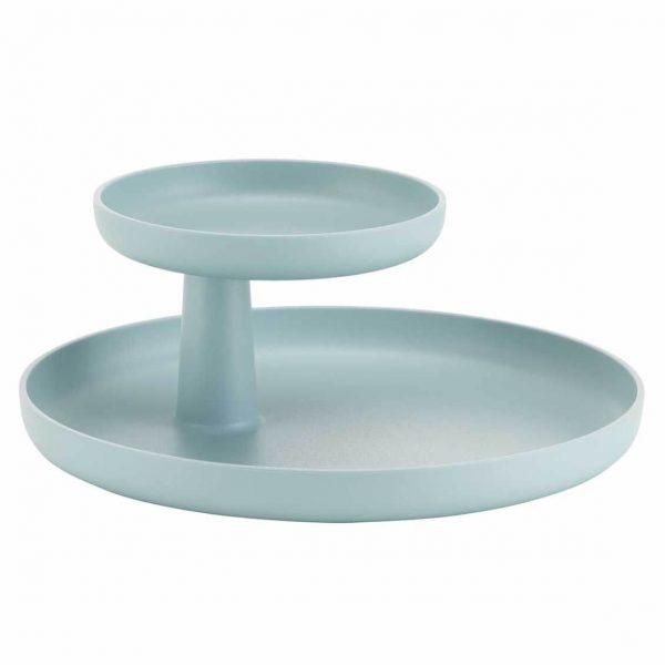 mooi de lichtblauwe rotary tray van vitra