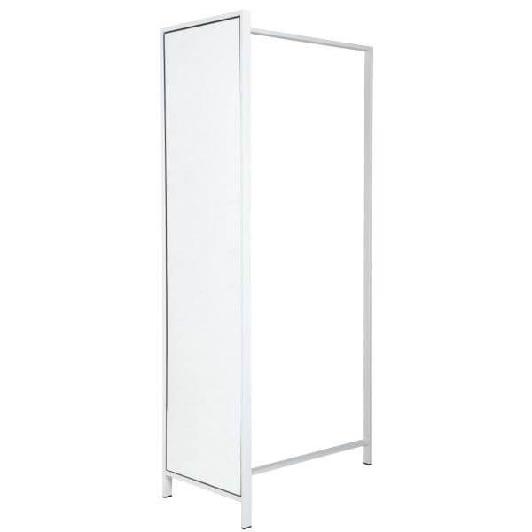 kapstok met spiegel wit