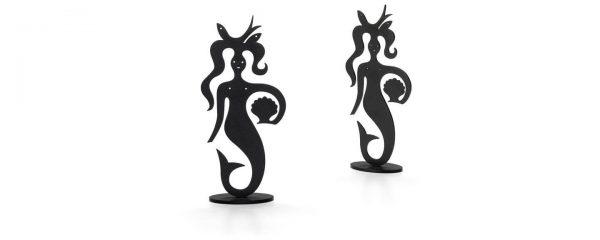 2 mermaid silhouettes van vitra