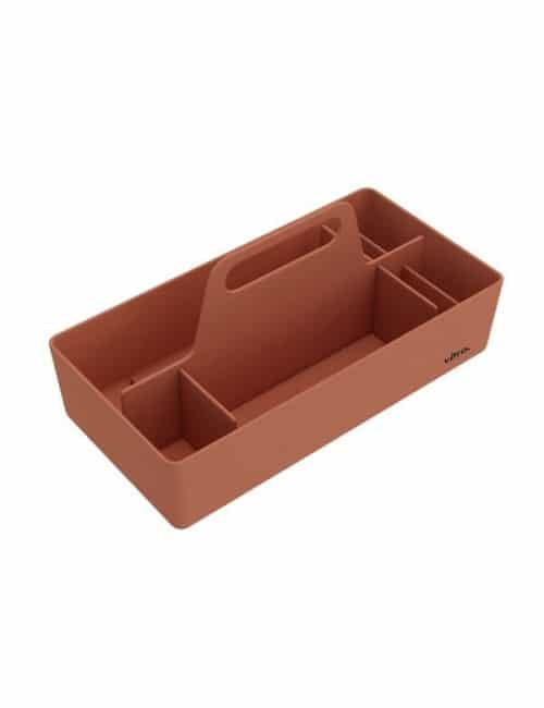 handige toolbox van vitra in baksteen kleur