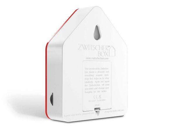zwitscherbox huisje met vogelgeluiden rood