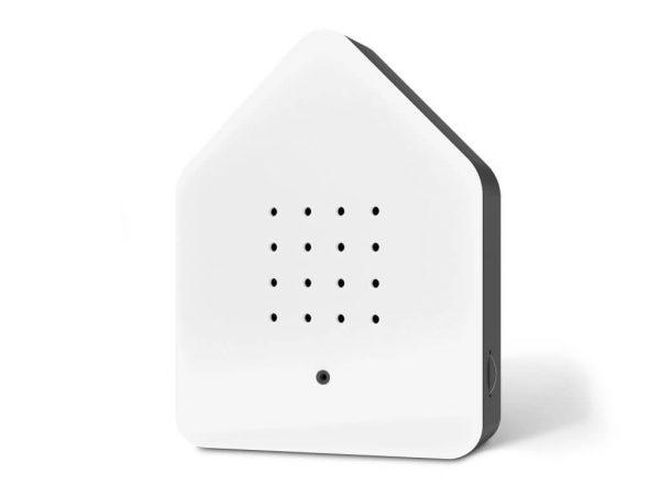 relaxwood speaker vogelhuisje wit met zwart Zwitscherbox
