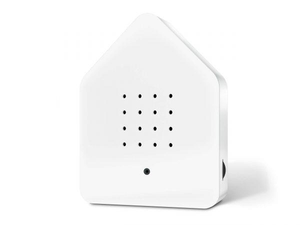zwitscherbox huisje met vogelgeluiden wit/wit