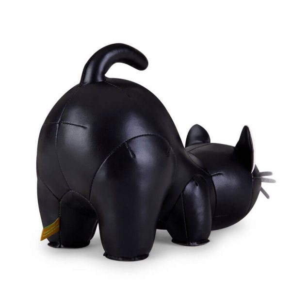 black cat bookend