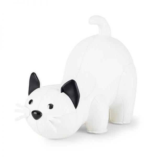 witte kat boekensteun