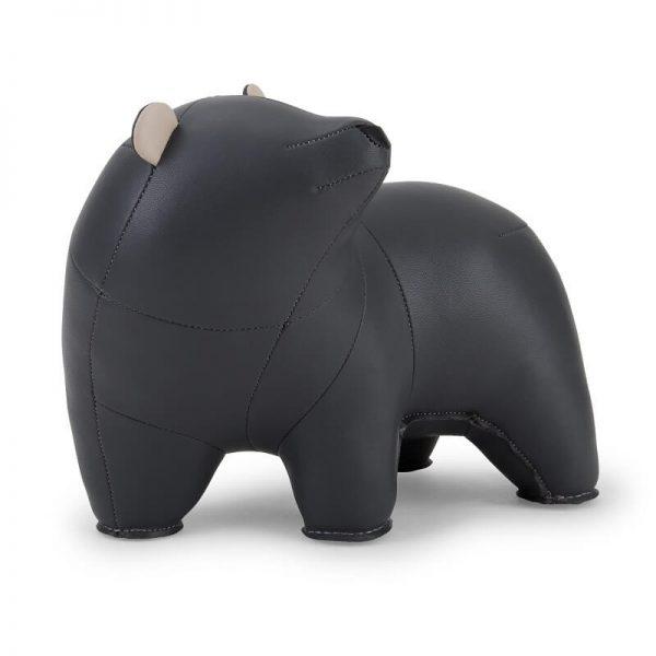 boekensteun beer bero donker grijs