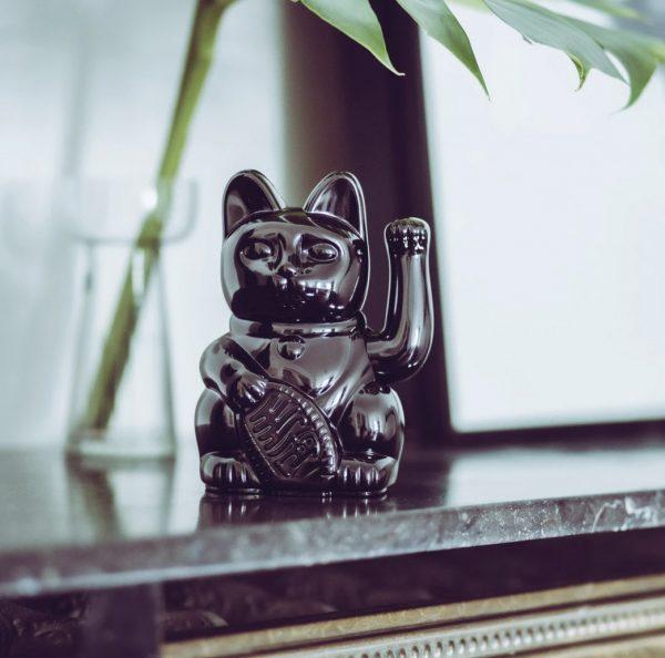 Lucky Cat Donkey products glossy zwart