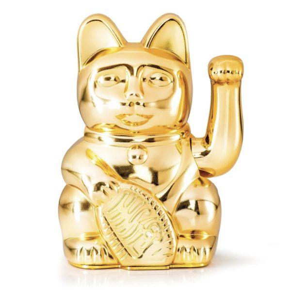 Lucky cat glanzend goud geluk