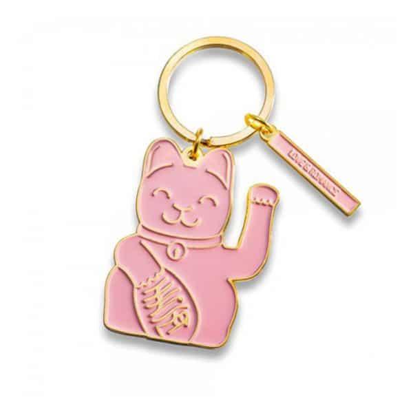 luckycat sleutelhanger roze